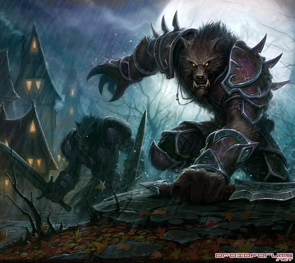world warcraft worgen motorola droid background wallpaper