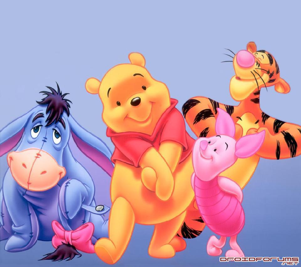 pooh tigger piglet eeyore motorola droid background wallpaper