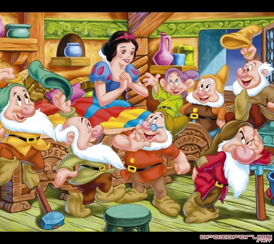 snow white dwarves motorola droid background wallpaper
