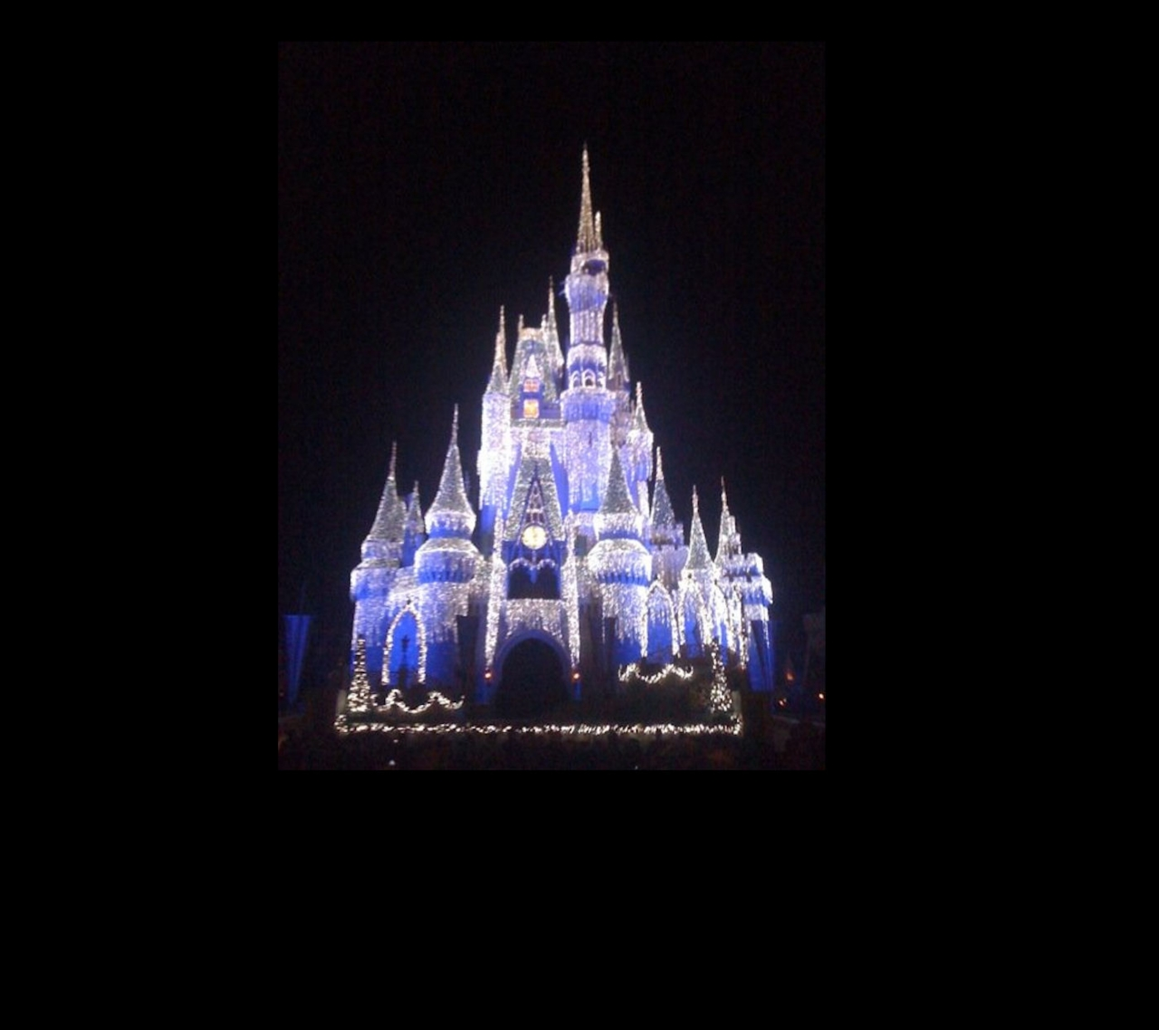 Walt Disney Castle - Christmas Lights
