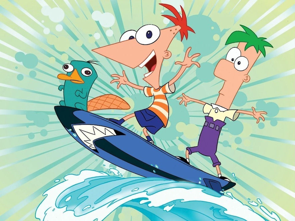 Disney ~ Phineas and Ferb Surfing