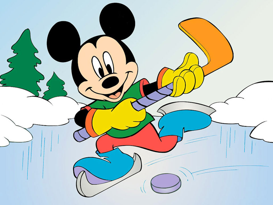 Disney ~ Mickey Playing Hockey