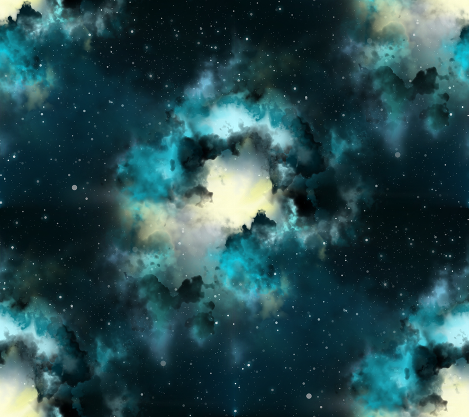"""Seamless Space Background Photo """"Space Clou..."""