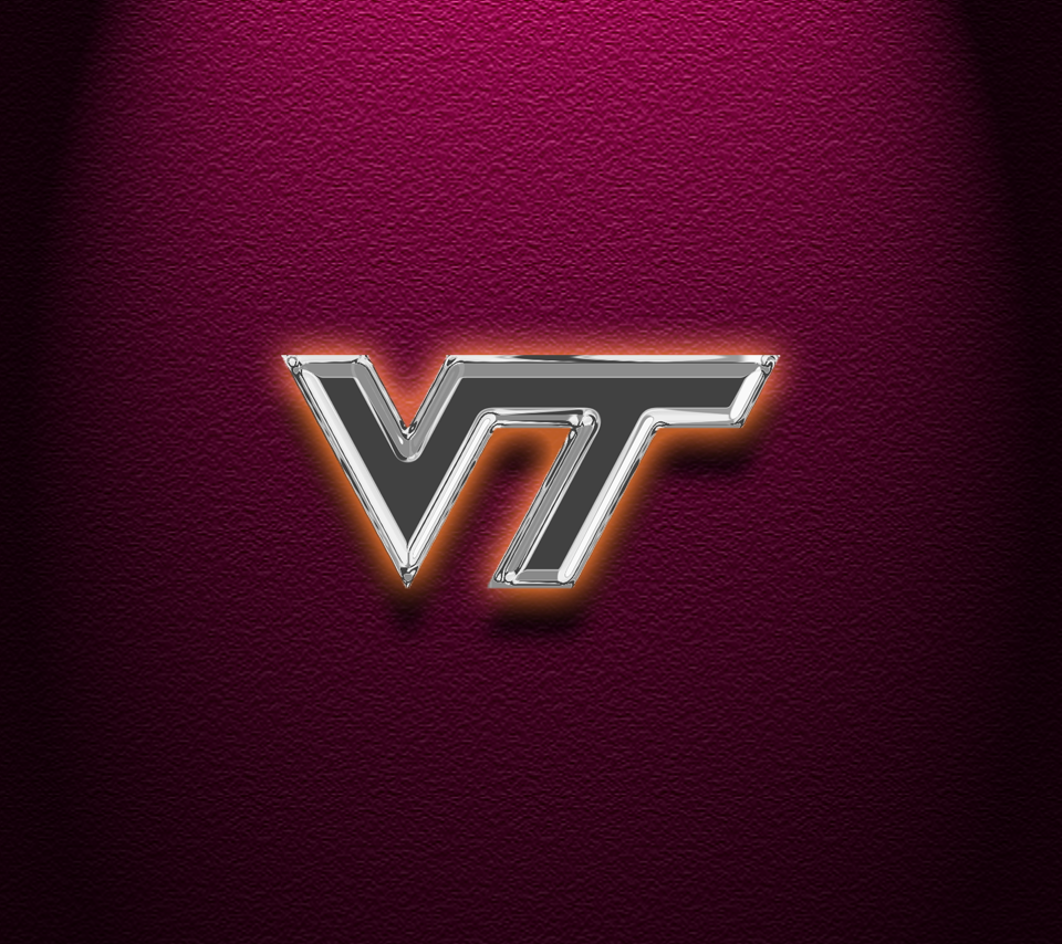 Virginia Tech - Chrome VT w/orange glow - HQ