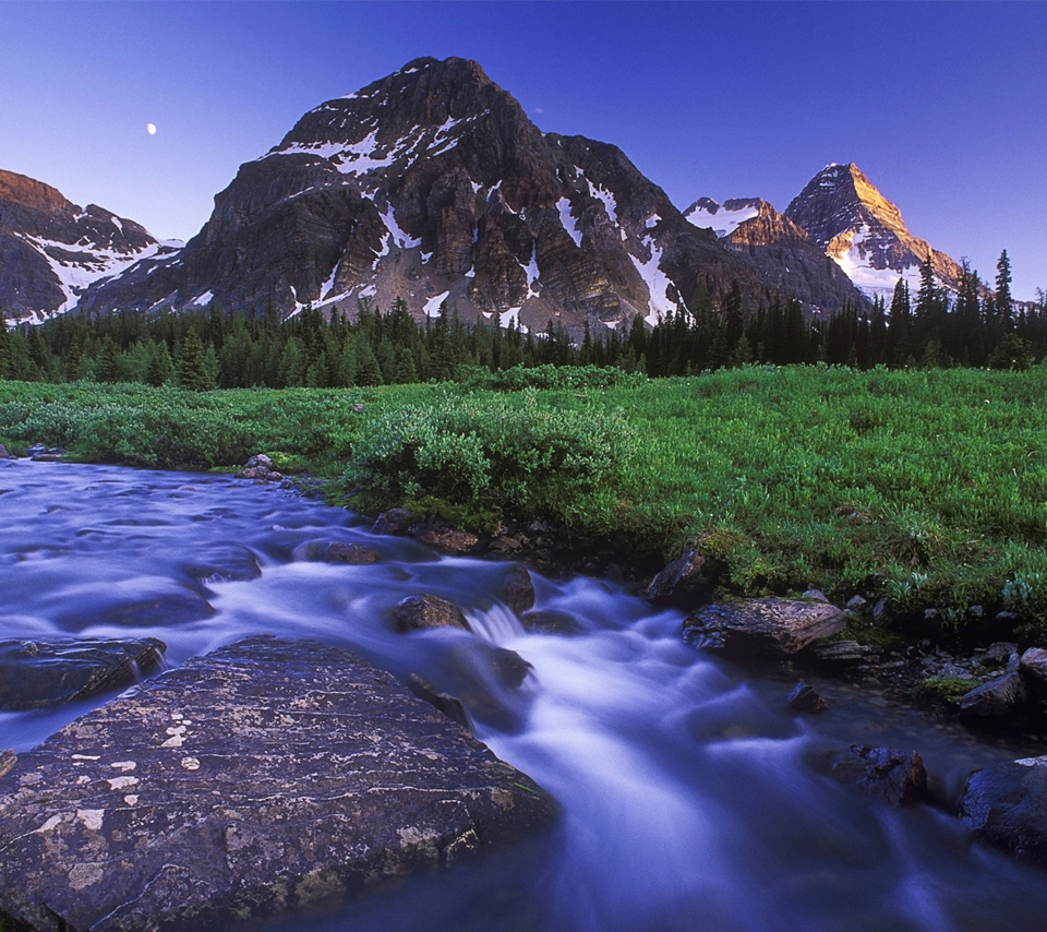 Magog Creek and Naiset Point, Mount Assiniboine Provincial Park, British Co