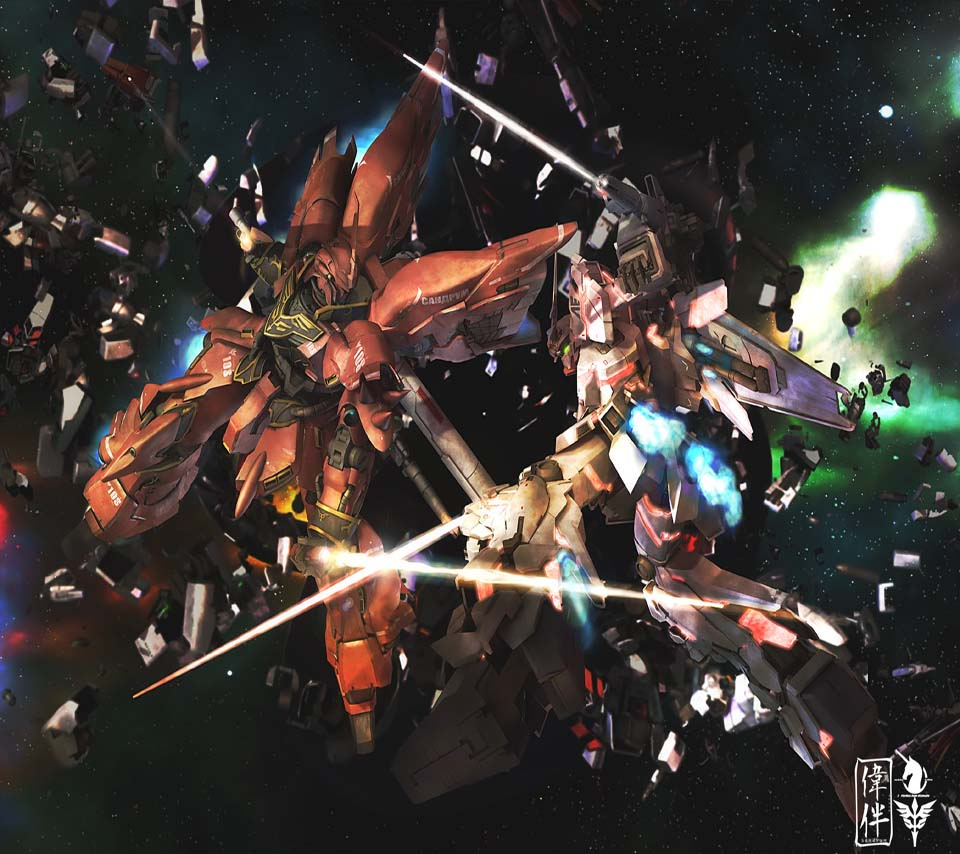 gundam unicorn wallpaper iphone