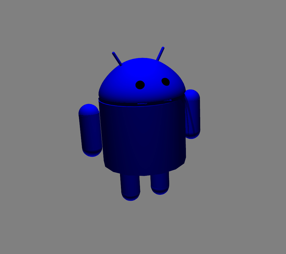 Blue Droid Centered