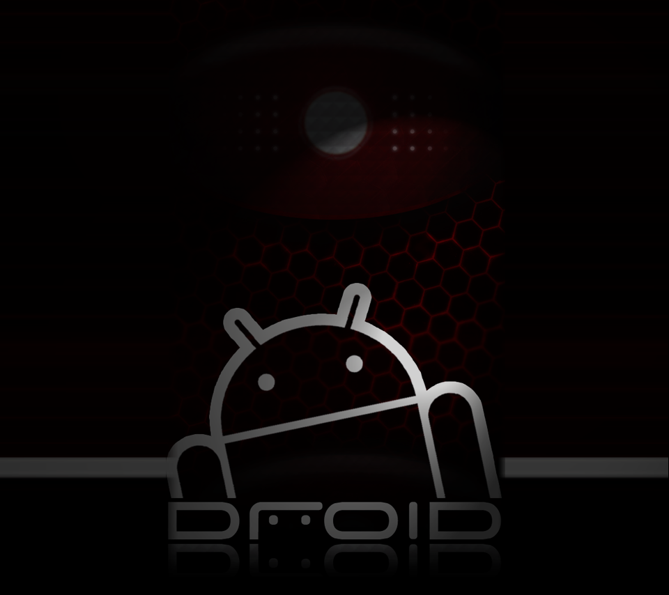 Red and Black Droid background