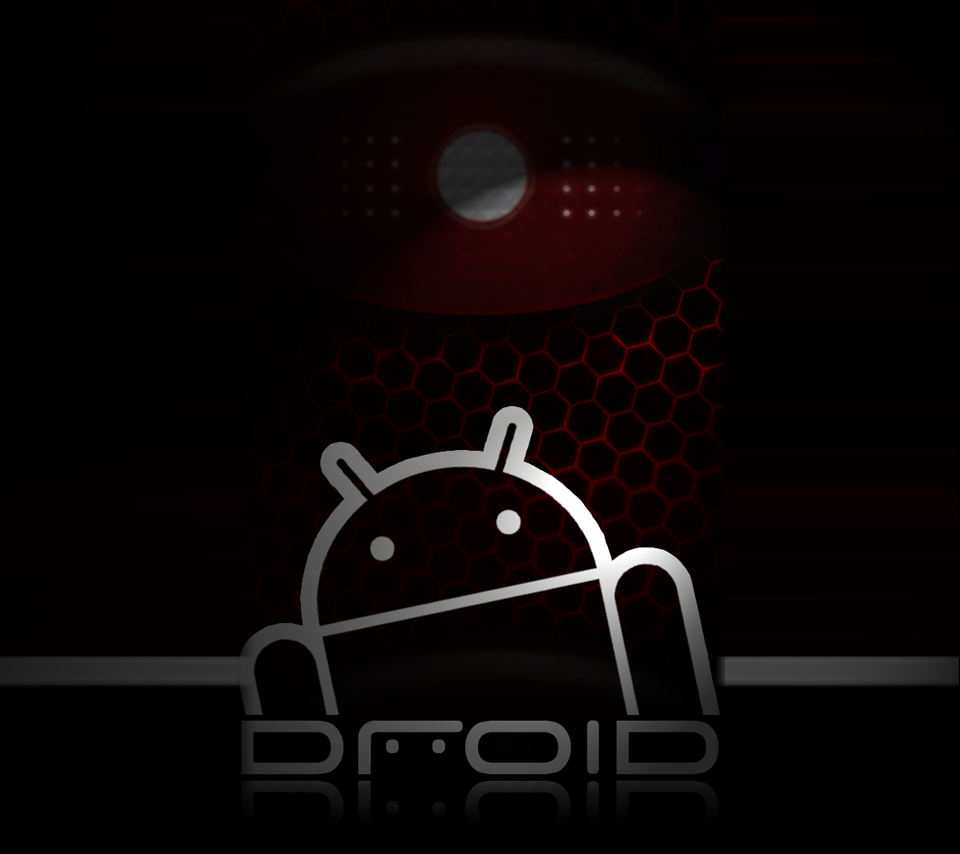 Red and Black Droid background brighter
