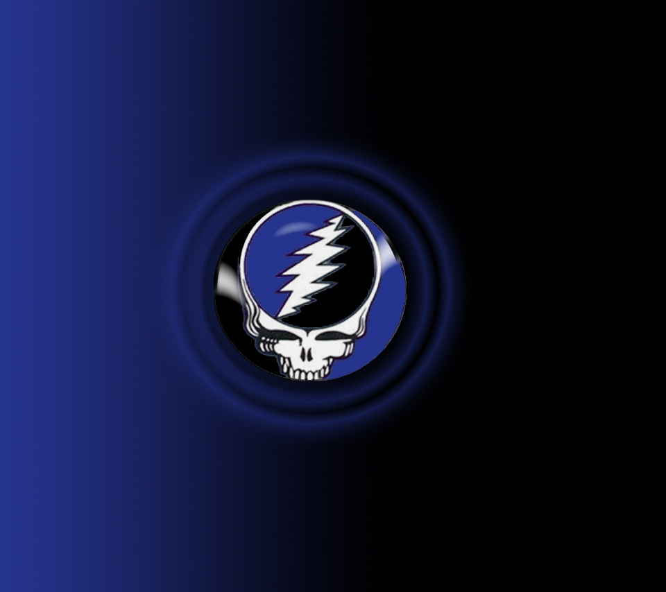 Grateful Dead - Steal your Face on blue
