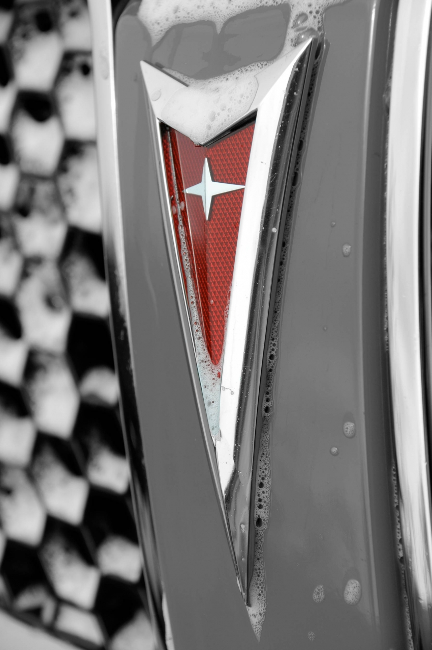 Pontiac Black and White with Red logo