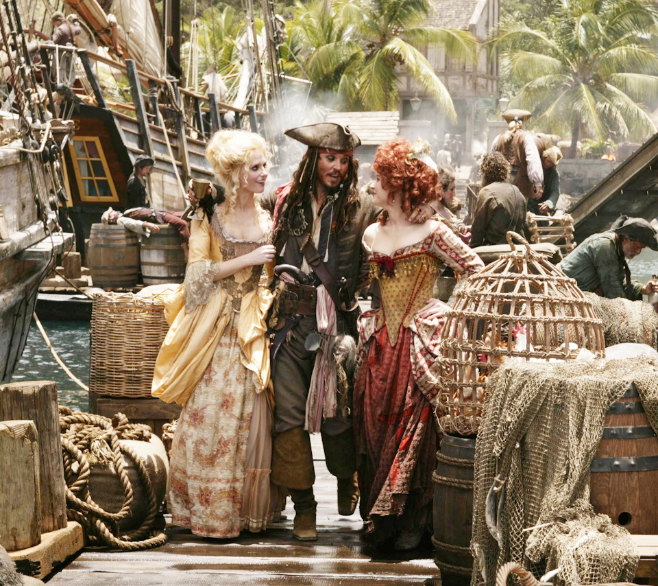 Jack Sparrow with the ladies