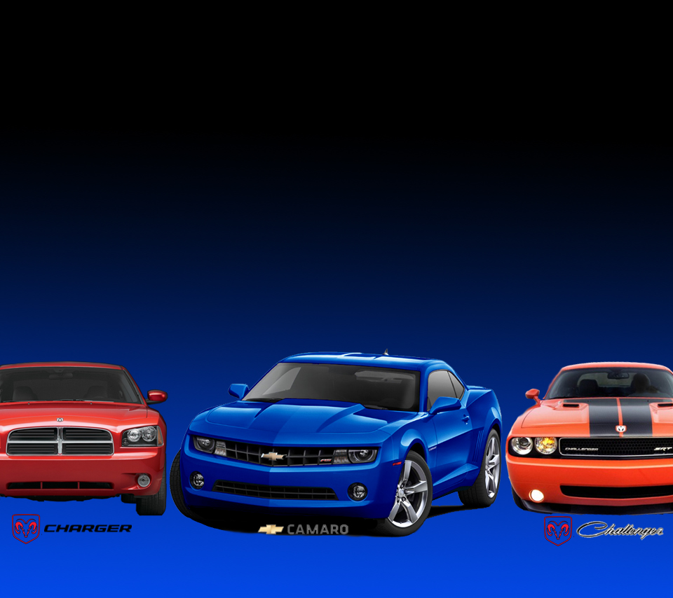 Charger, Camaro, Challenger Wallpaper
