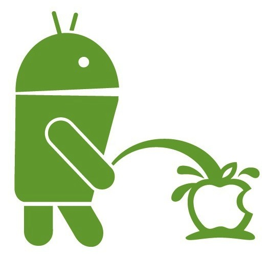 android-pissin-on-apple-decal