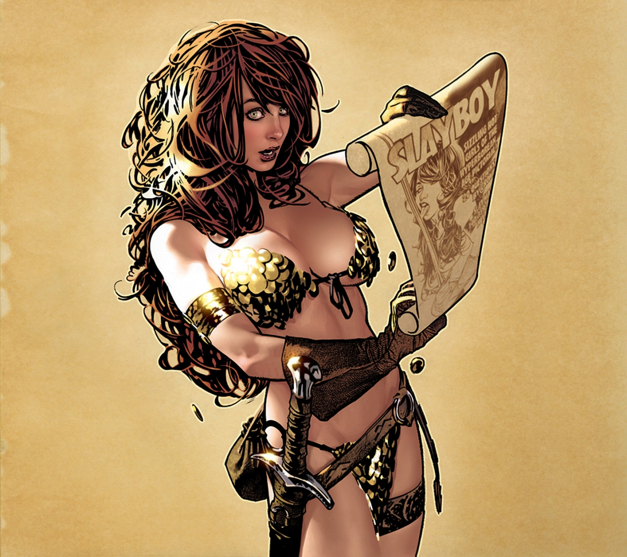 Red Sonja by Adam Hughes