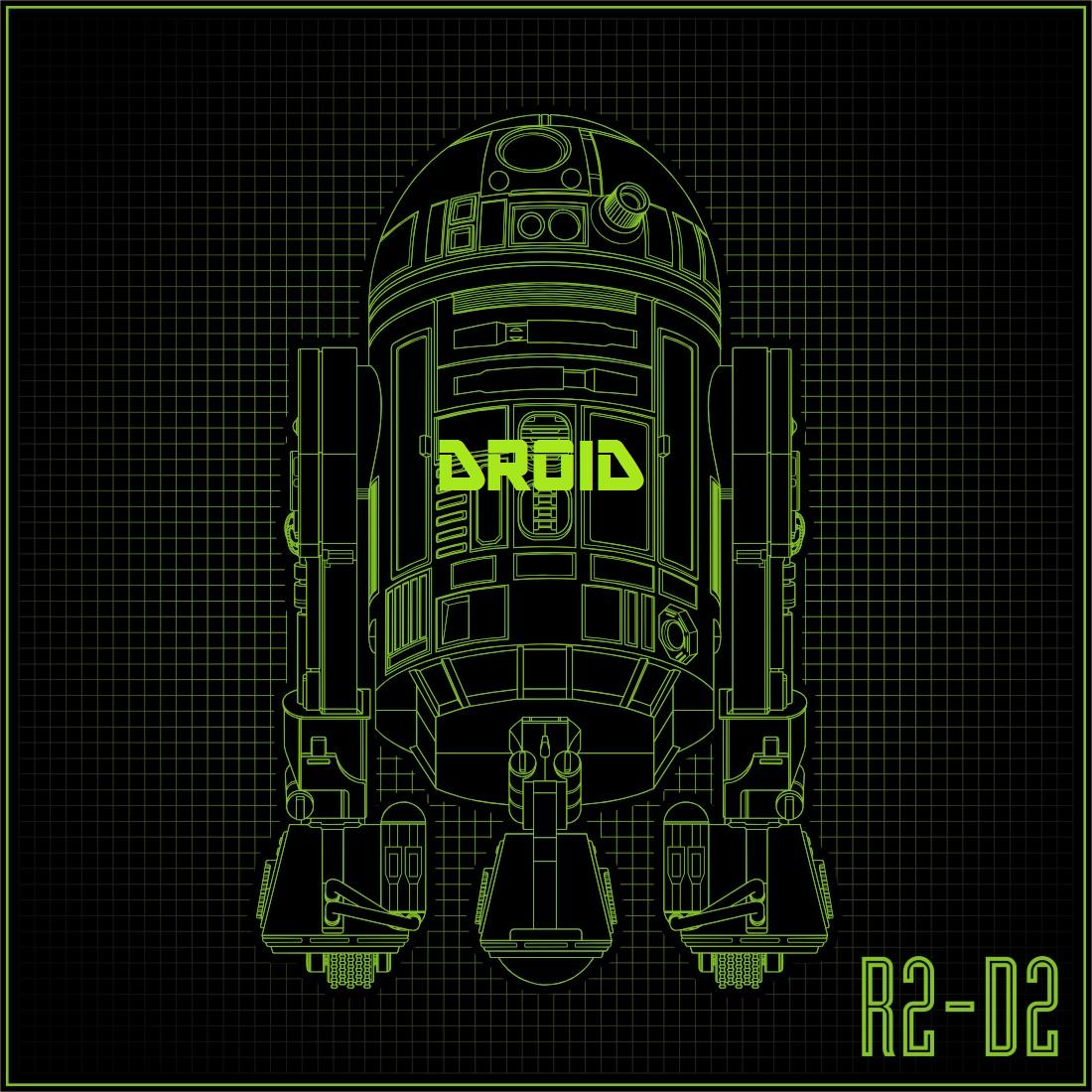 droid r2d2 green design