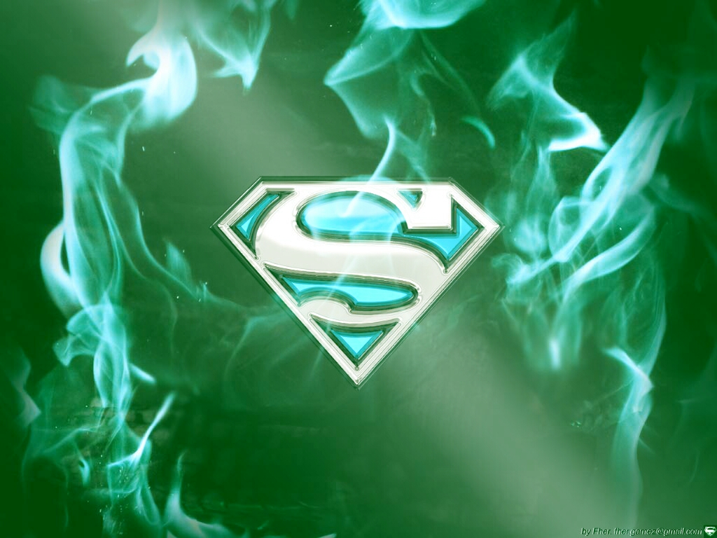 superman cyan fire