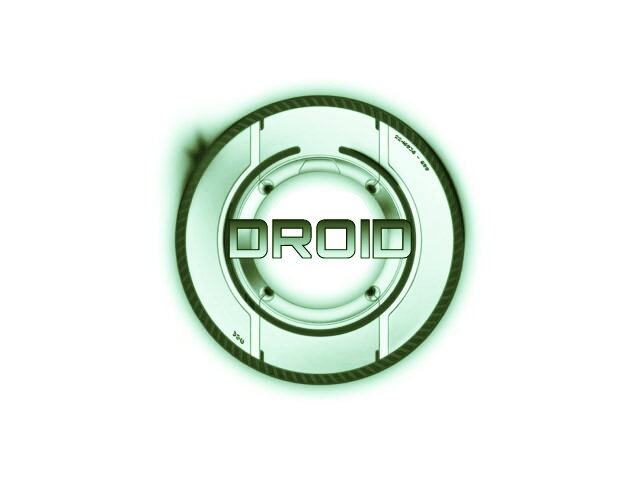 droid tron green white