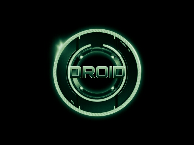 droid tron green black