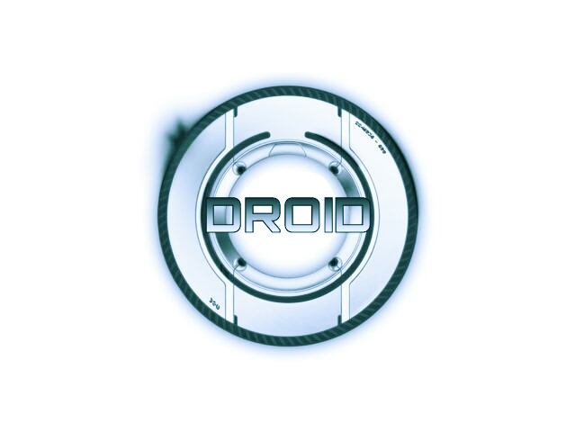droid tron blue white