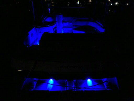 Abyss underwater lights with blue Led interiors