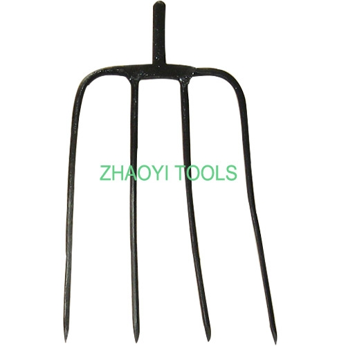 1001144 forged steel shaft manure spading digging fork