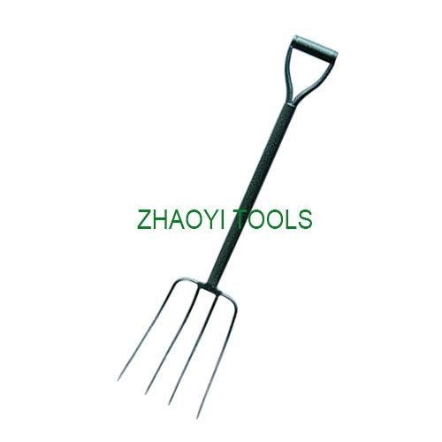 1056005 with steel standing Y grip steel shaft  muck digging fork