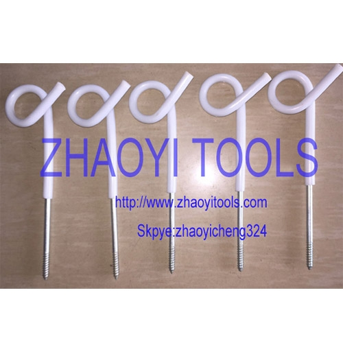 PP01 pigtail top wood insert portable paddock fencing posts