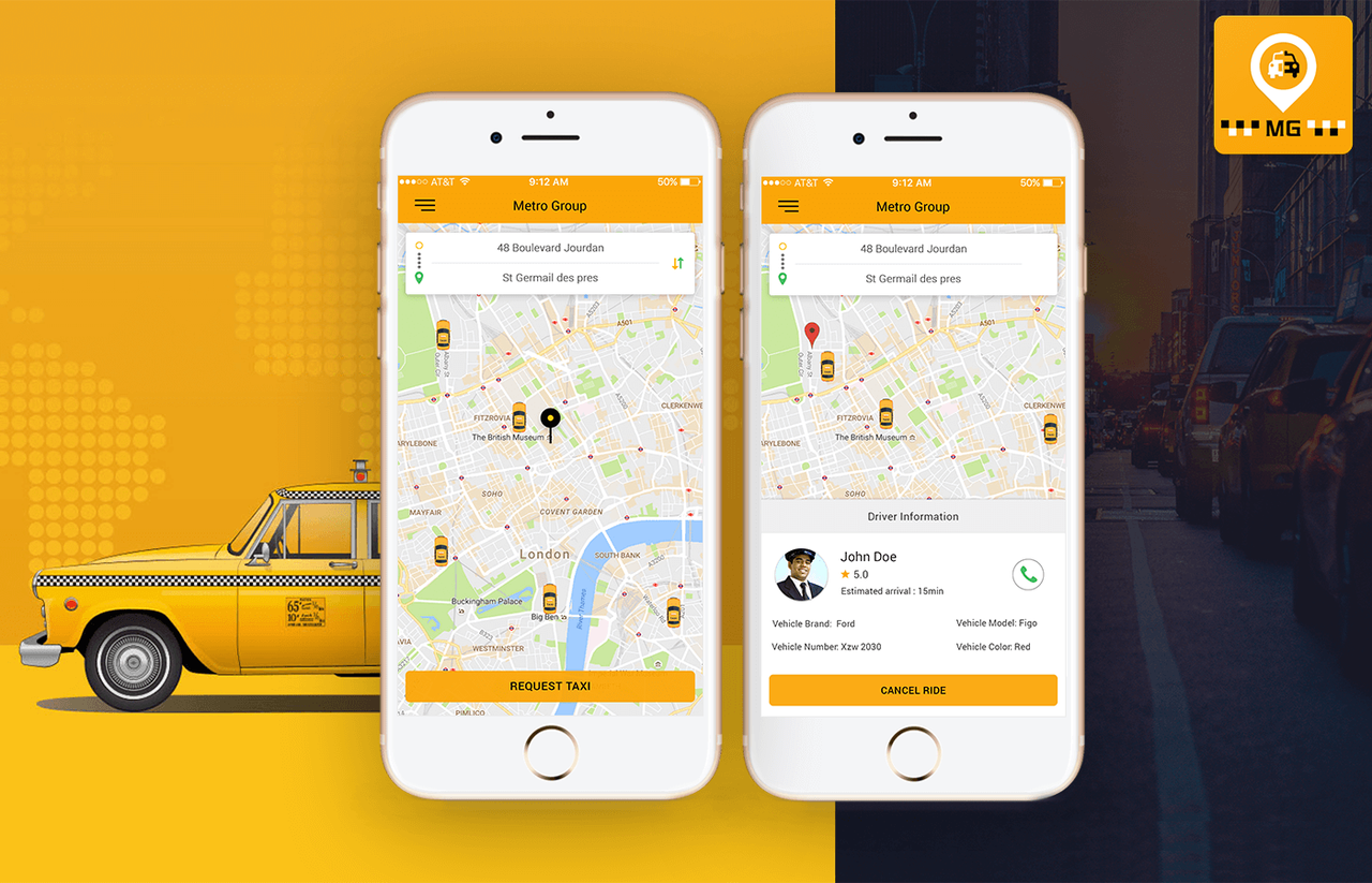 Metro Group Taxi Booking App