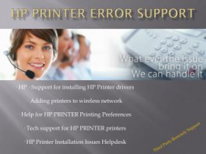 HP Printer 1800 681 7208 Error Customer Technical Support Number