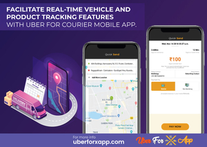On-demand courier clone app for easy traceability