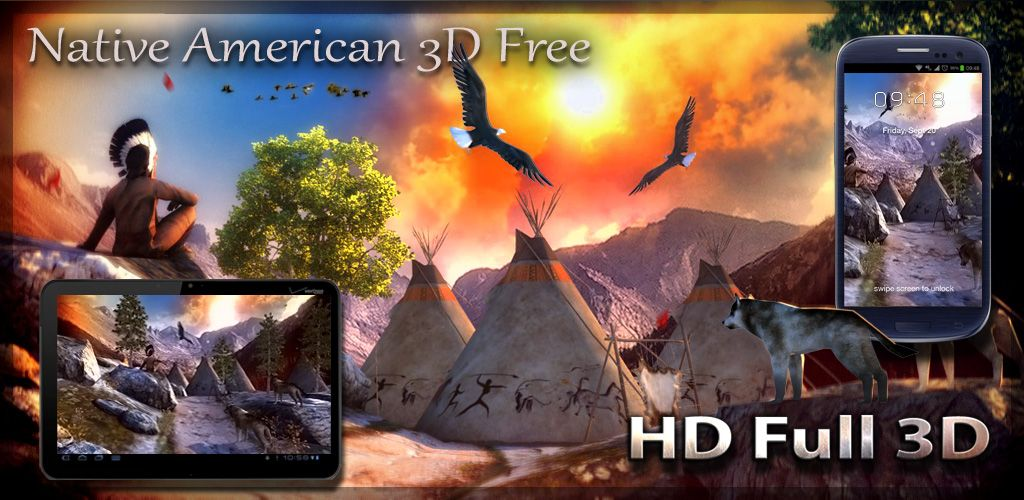 Native american 3d free live wallpaper droidforums android featuregraphicsindiang voltagebd Choice Image